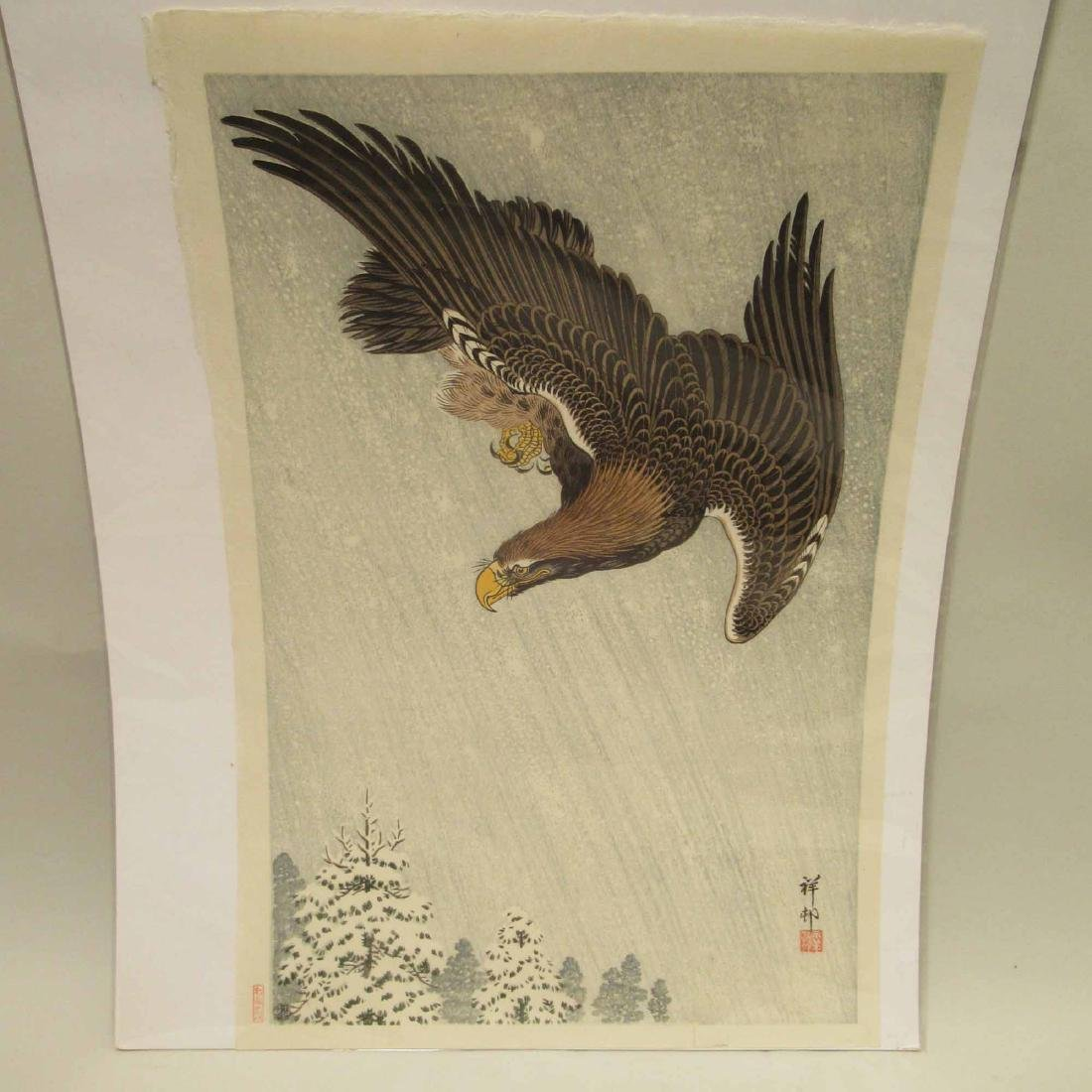 ORIENTAL PRINT OF EAGLE