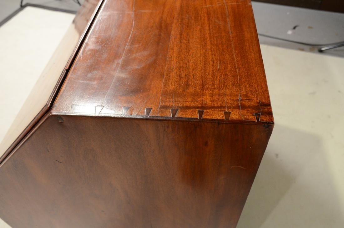 Chippendale Carved Mahogany Slant-Front Desk - 10