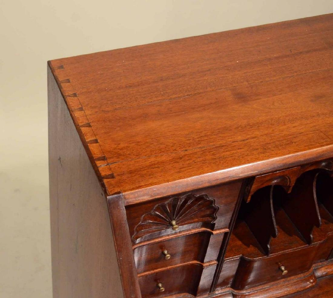 Chippendale Carved Mahogany Slant-Front Desk - 7