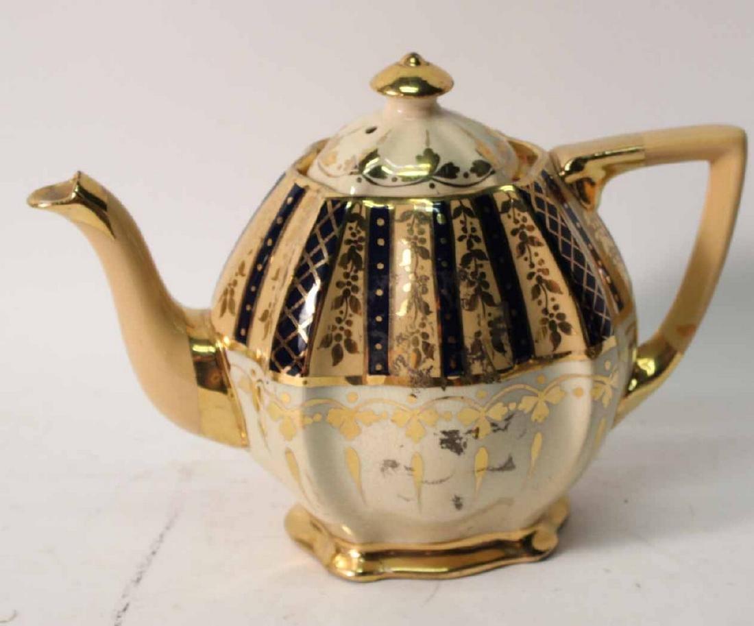 Parcel-Gilt and Cobalt Decorated Tea Service - 2