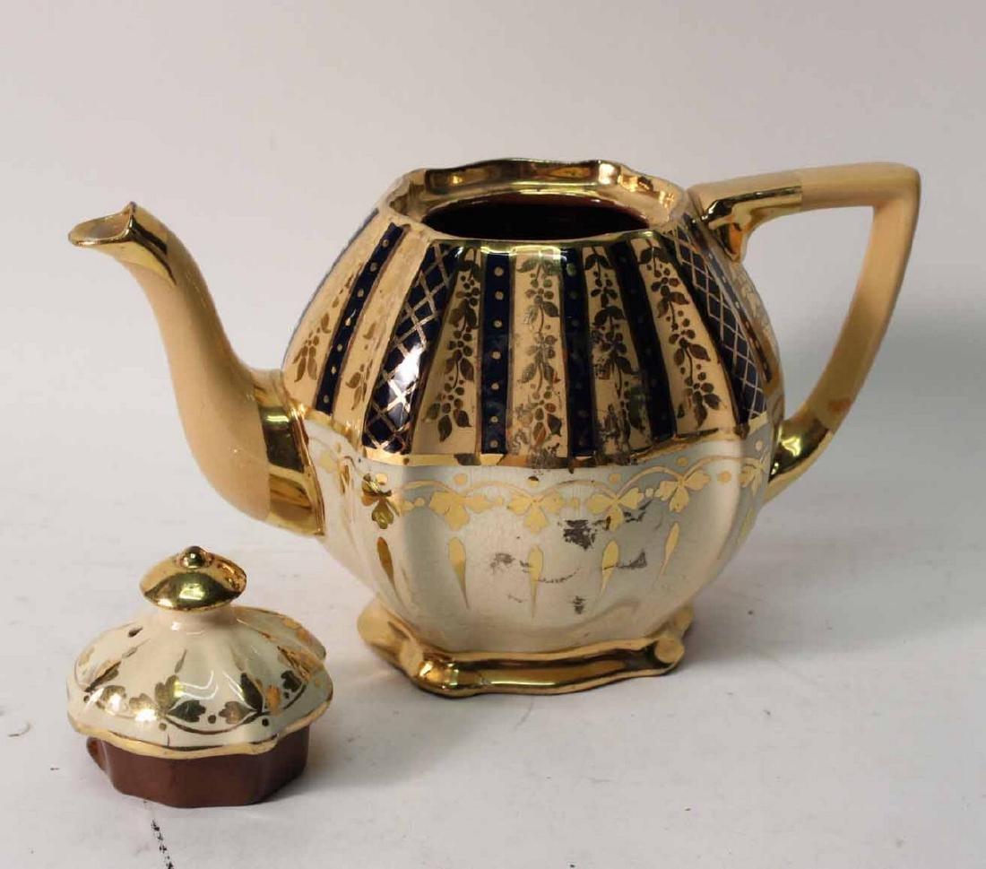 Parcel-Gilt and Cobalt Decorated Tea Service - 3