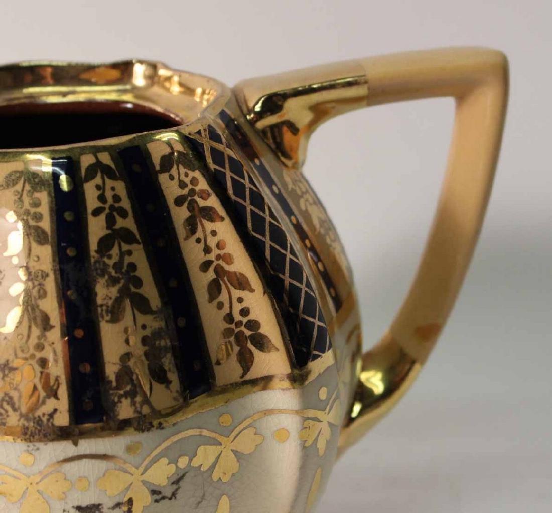 Parcel-Gilt and Cobalt Decorated Tea Service - 4