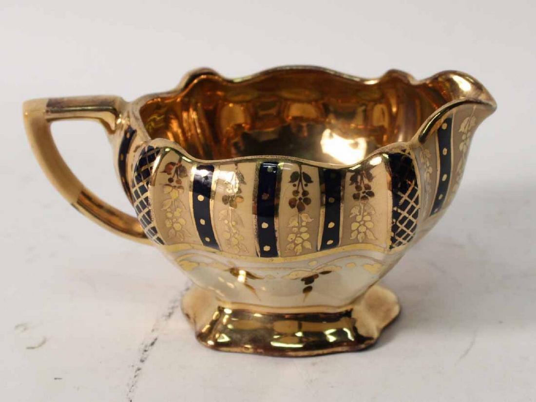 Parcel-Gilt and Cobalt Decorated Tea Service - 5