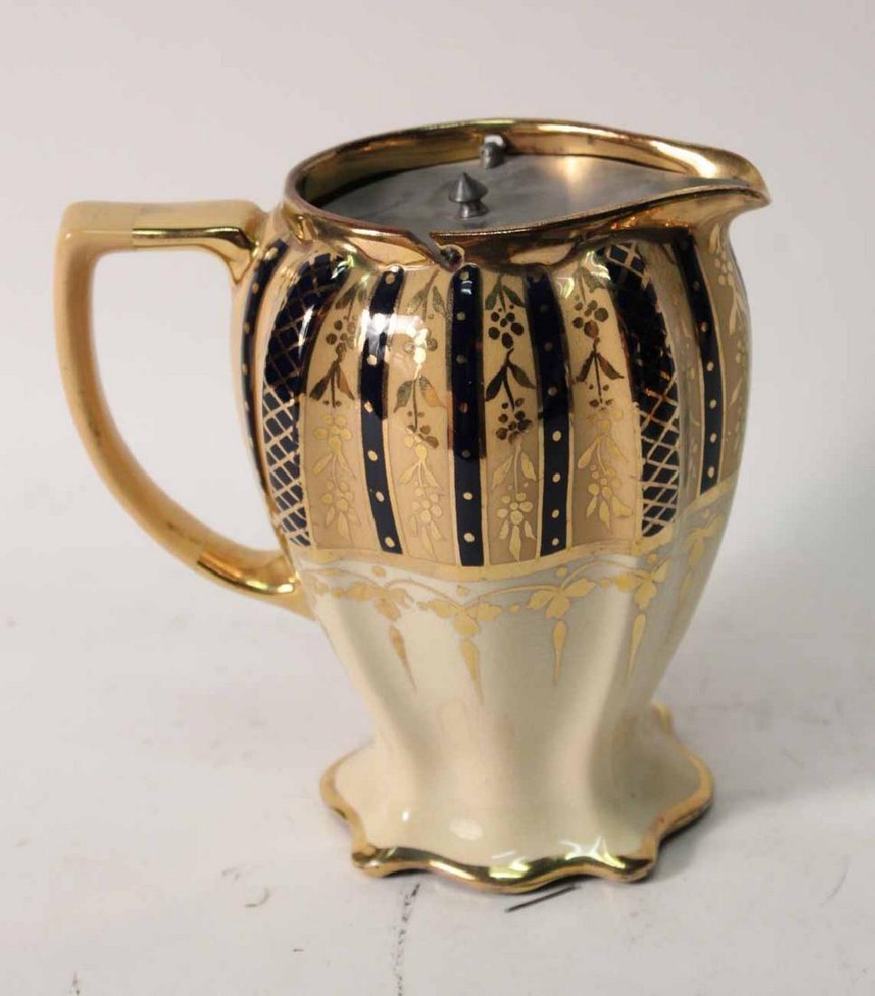 Parcel-Gilt and Cobalt Decorated Tea Service - 6