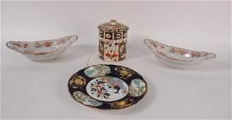 Four Porcelain Table Articles