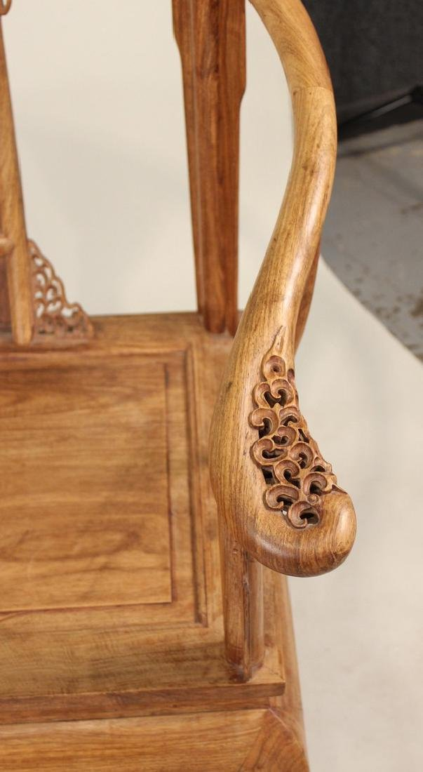 Two Huang Huali Horse-Shoe Back Armchairs - 3