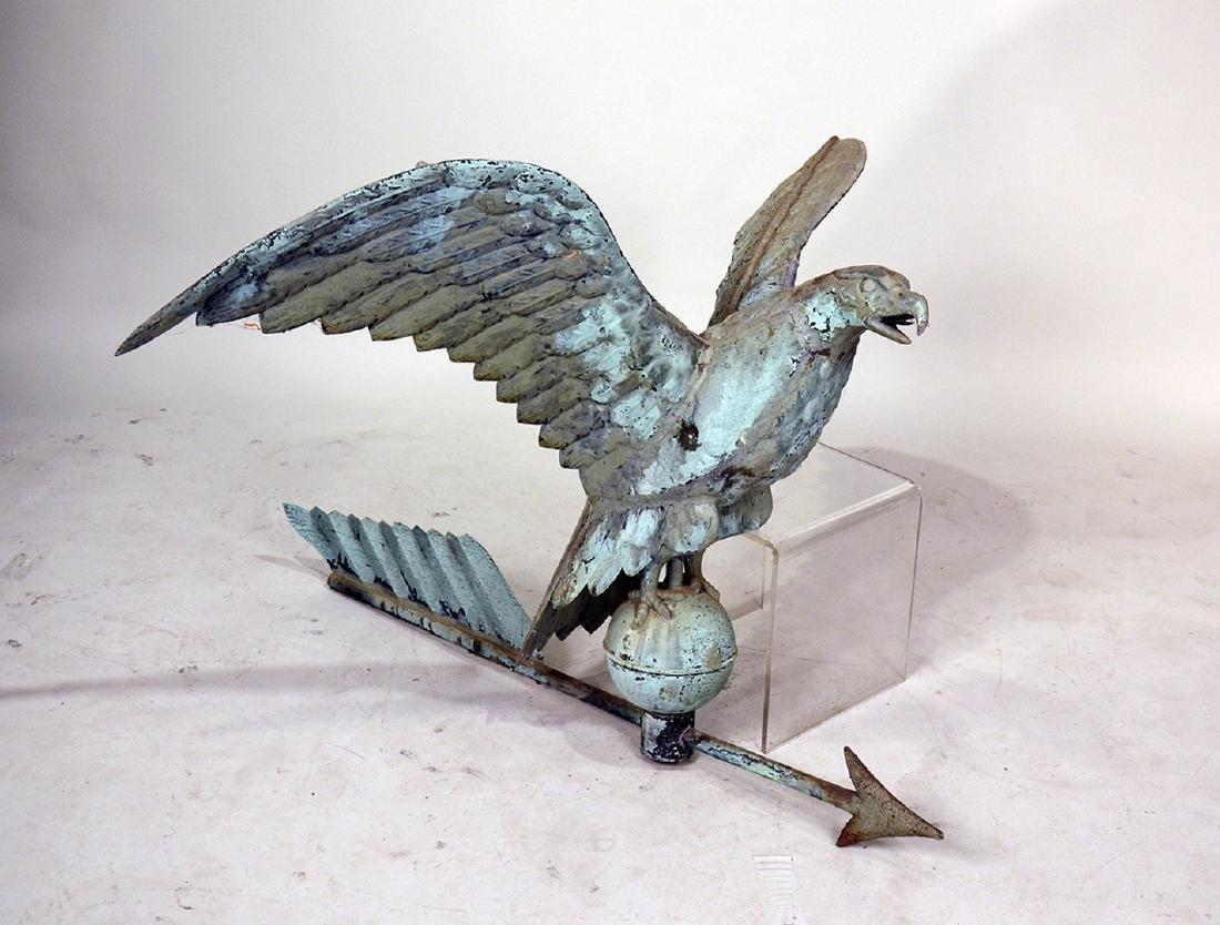 Copper Spreadwing Eagle Weathervane