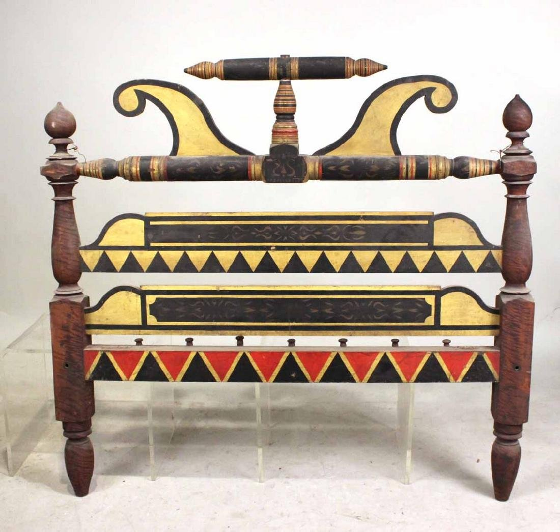 Empire Painted Bedstead, New England - 6