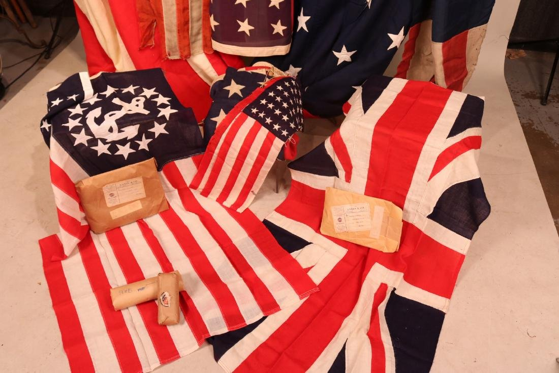 Large Group of Vintage Flags - 3