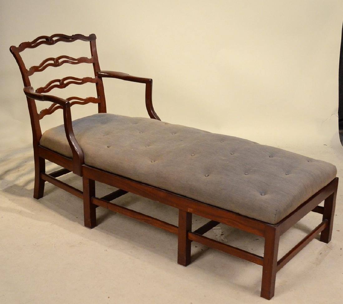 Chippendale Style Mahogany Day Bed