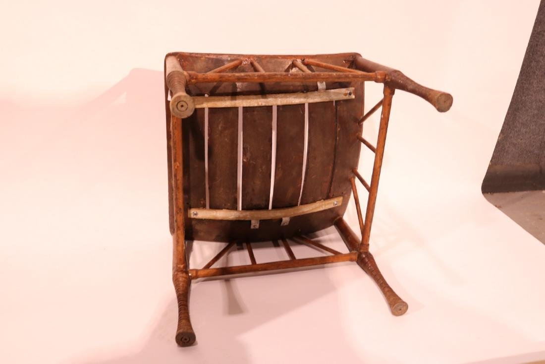 Turned and Slat Saddle-Shaped Stool - 2