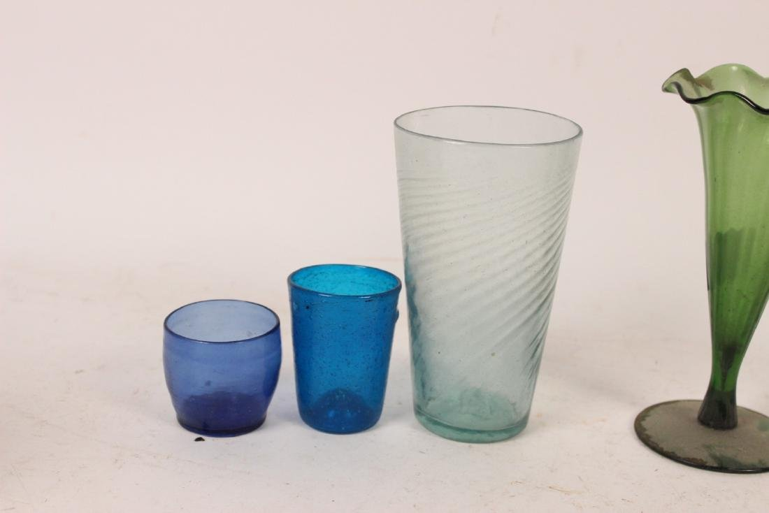 Assorted Group of Blown Color Glasses - 4