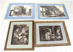 Four Framed Giovanni Battista Piranesi Prints