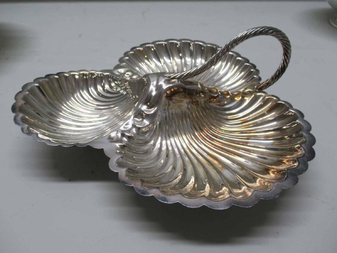 SILVER PLATED BRIDES BASKET - 8
