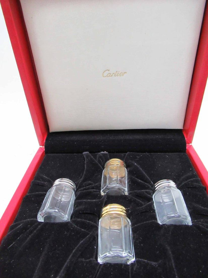 FOUR CARTIER STERLING SILVER SALT &PEPPER SHAKERS - 2
