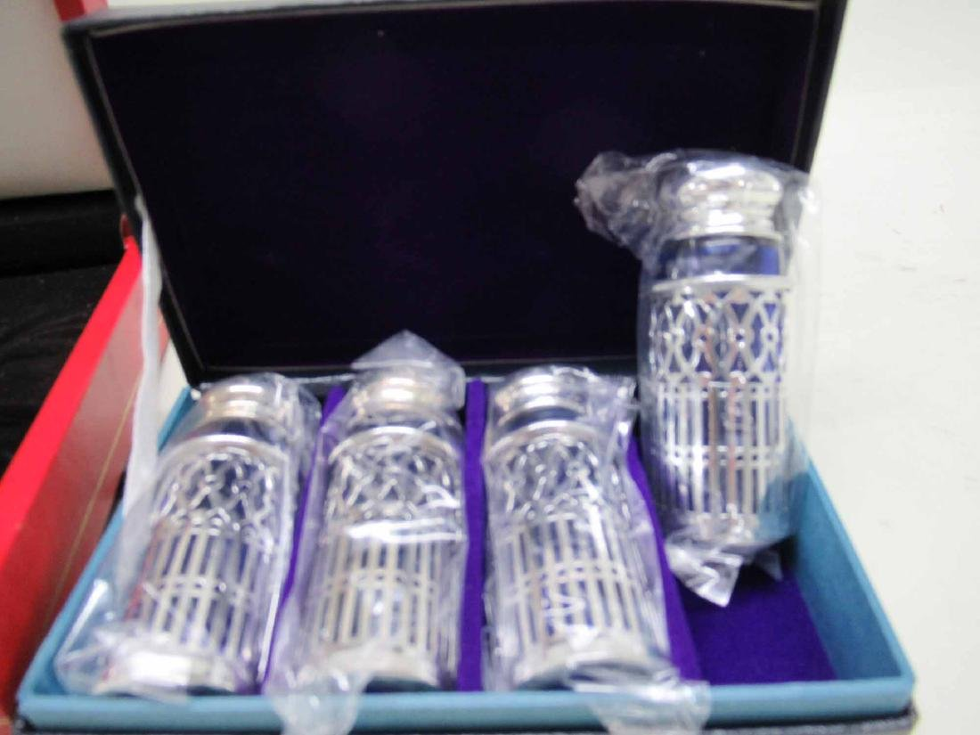 FOUR CARTIER STERLING SILVER SALT &PEPPER SHAKERS - 3