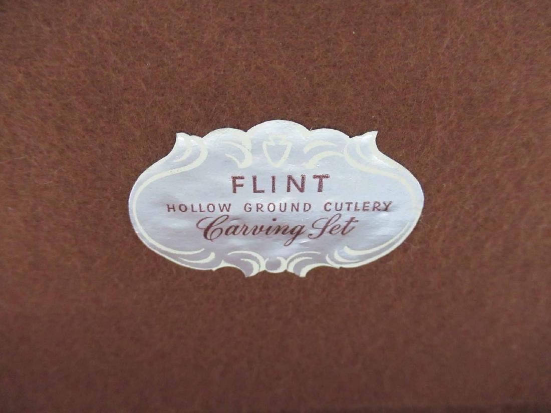 FLINT STERLING SILVER HANDLED CARVING SET - 7