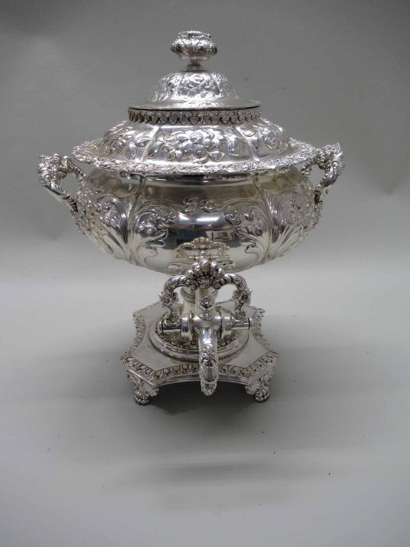 SILVER PLATED HOT WATER URN