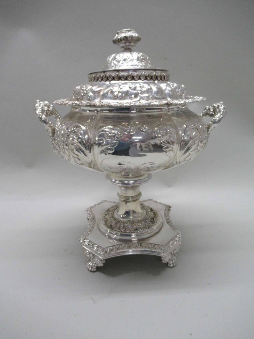 SILVER PLATED HOT WATER URN - 8