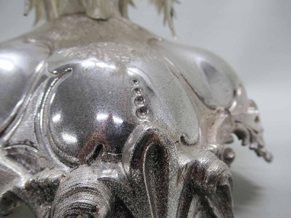 PALM TREE SILVER PLATED CANDLABRUM - 4