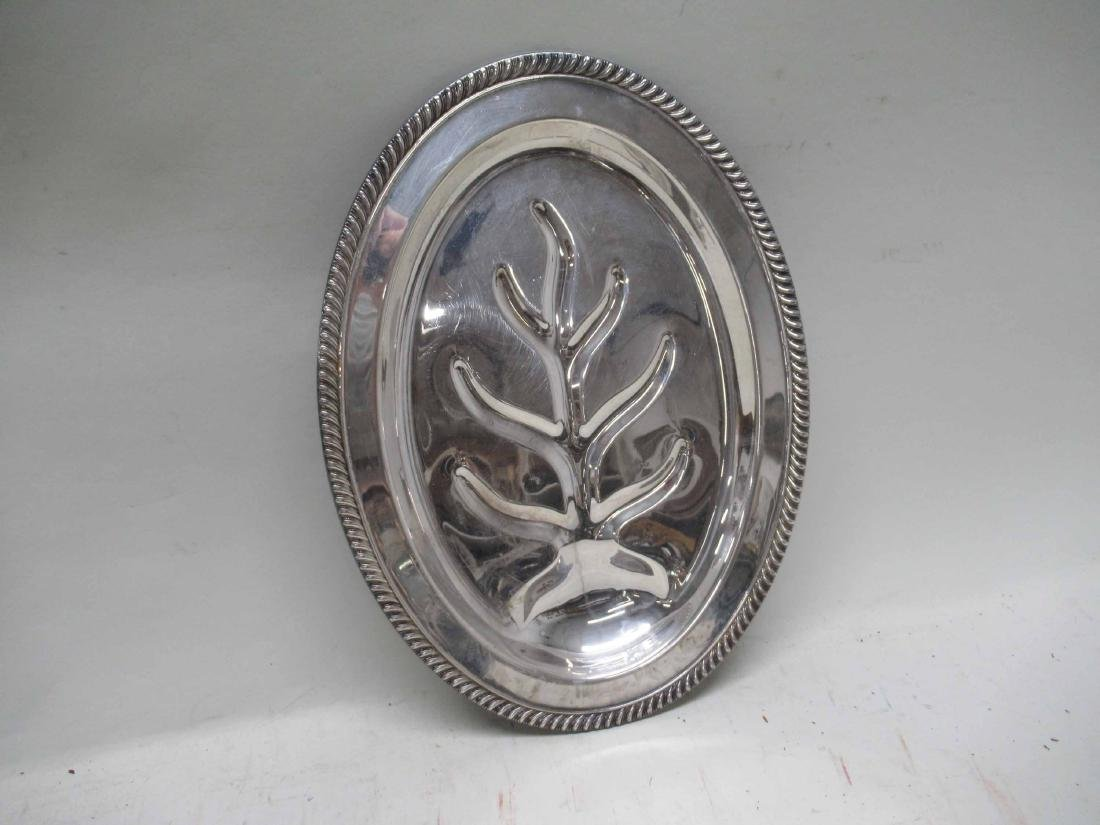 SILVER PLATED WELL AND TREE PLATTER