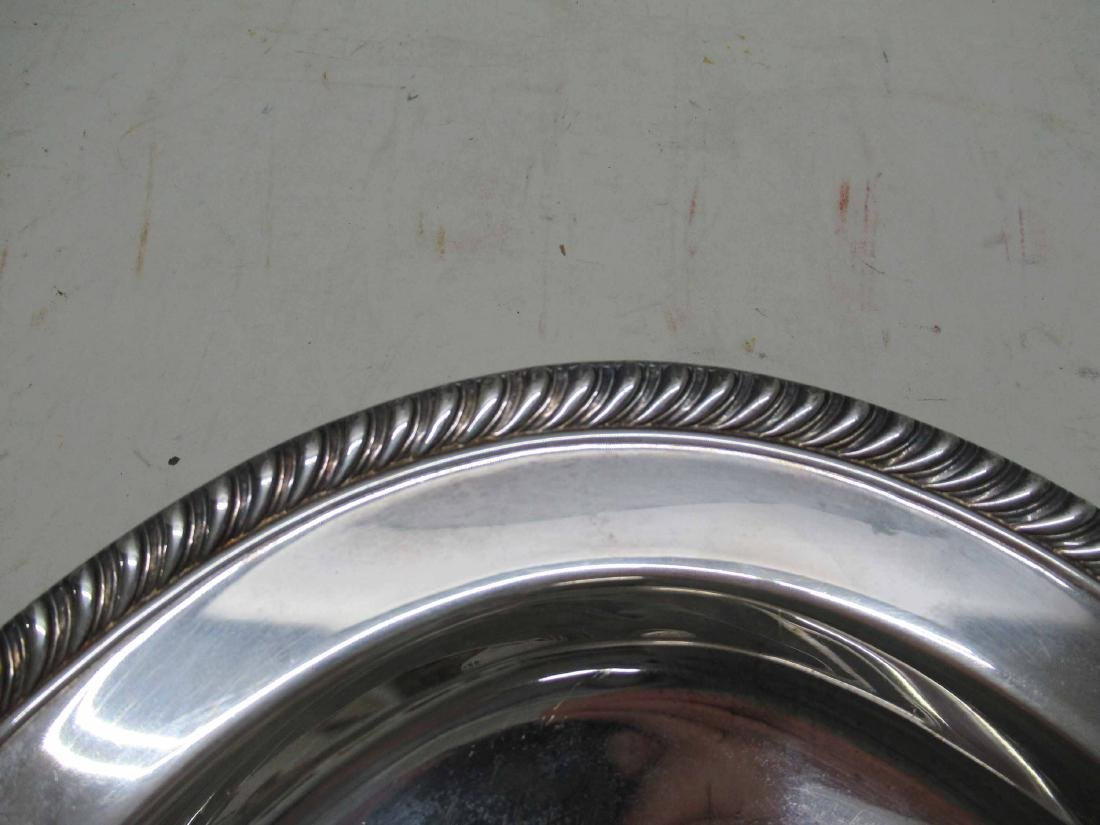 SILVER PLATED WELL AND TREE PLATTER - 3