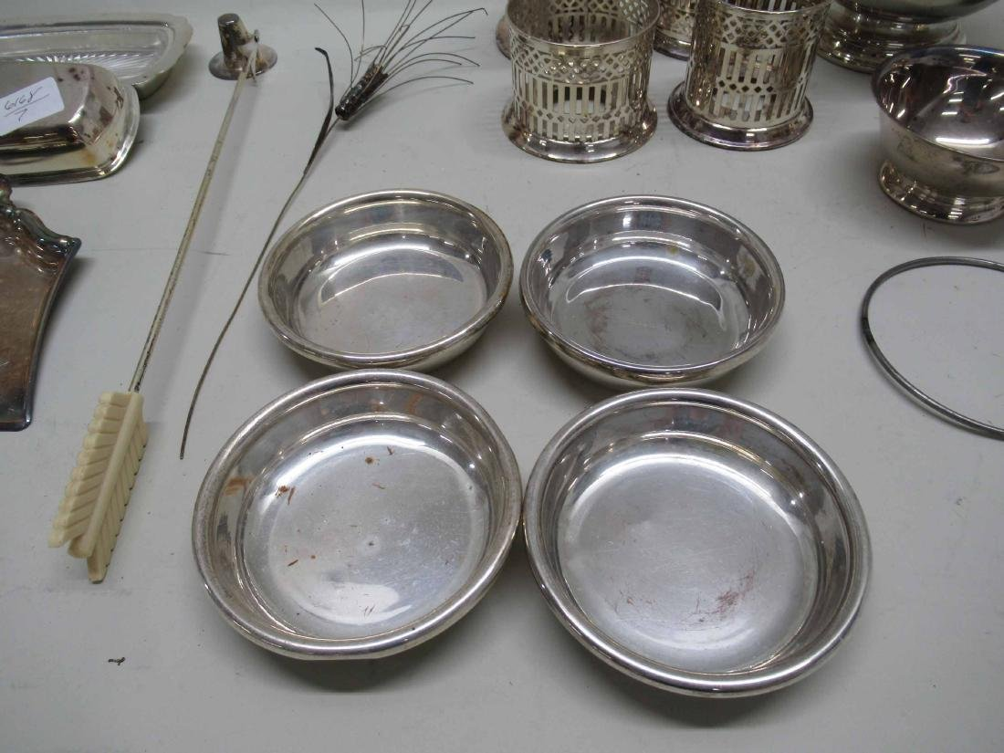 GROUP OF ASSORTED SILVER PLATED TABLE ARTICLES - 4