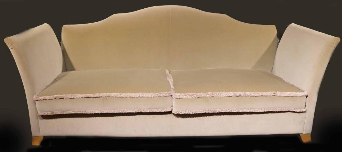 CONTEMPORARY BEIGE -UPHOLSTERED KNOLE STYLE SOFA