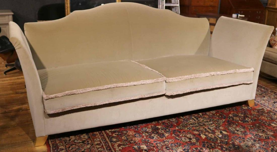 CONTEMPORARY BEIGE -UPHOLSTERED KNOLE STYLE SOFA - 2