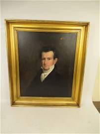 OIL ON CANVAS OF JAMES FREEMAN CURTIS 1797-1839