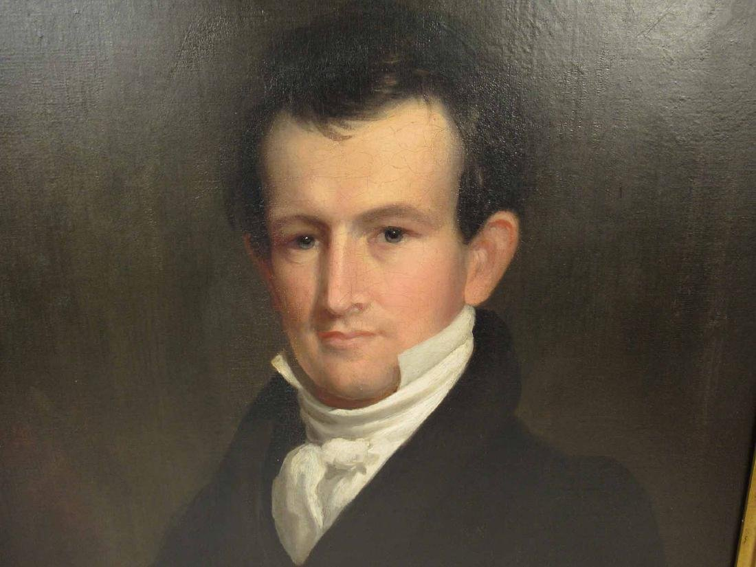 OIL ON CANVAS OF JAMES FREEMAN CURTIS 1797-1839 - 2