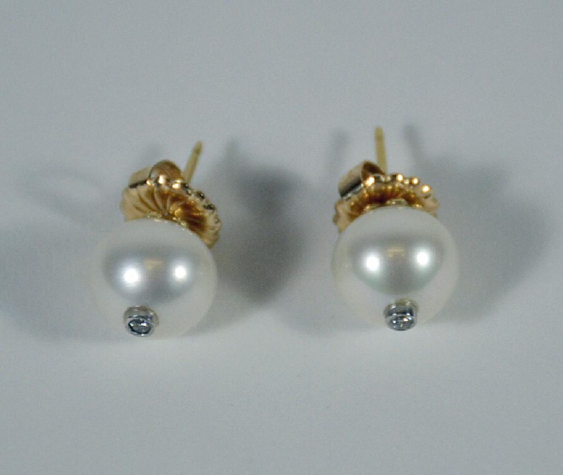 Pair of Fresh Water 11MM Pearl Earrings