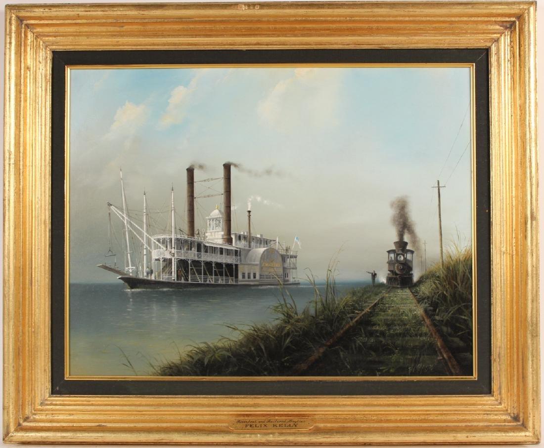 Oil on Board, Riverboat, Felix Kelly
