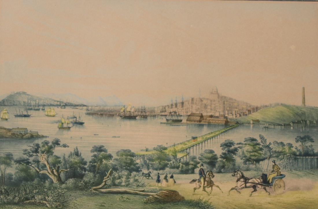 "Two Lithographs ""Vue de Boston""&Vue de Baltimore - 5"