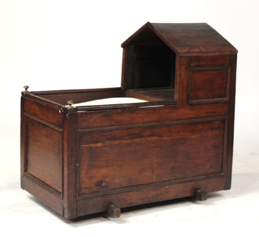 Charles II Style Oak Cradle
