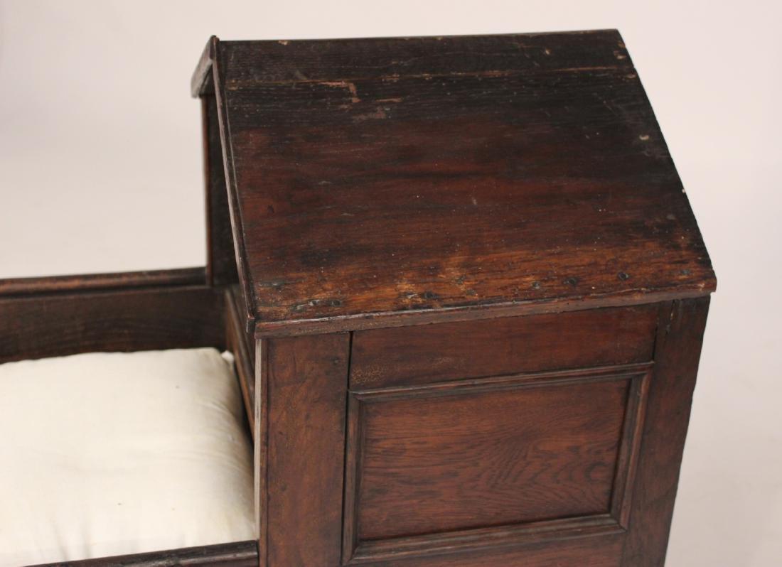 Charles II Style Oak Cradle - 2