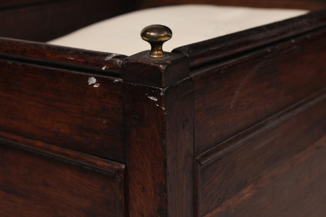 Charles II Style Oak Cradle - 4