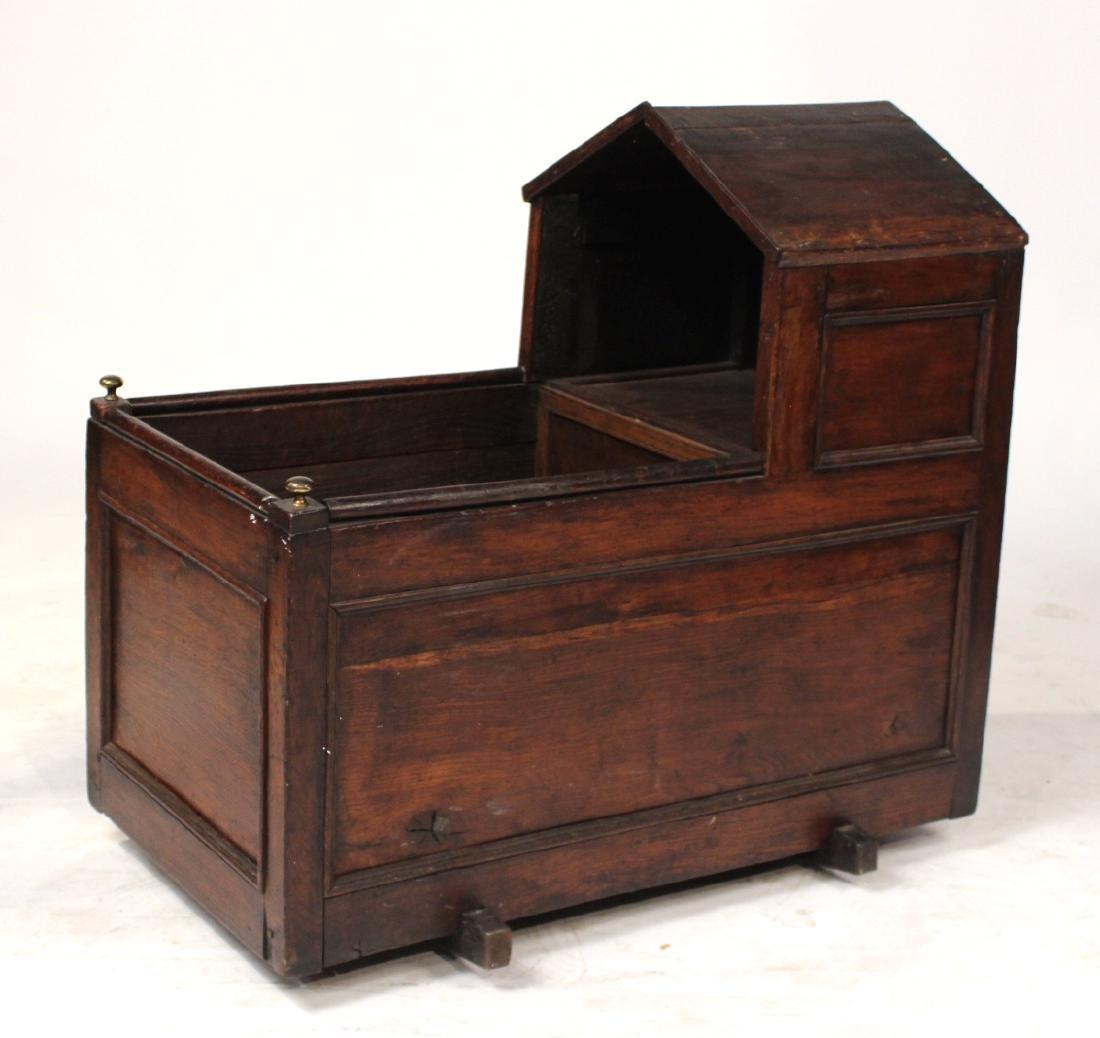 Charles II Style Oak Cradle - 6