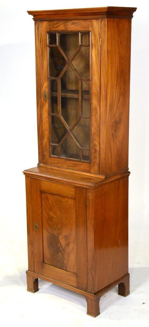 George III Mahogany Bookcase Cabinet