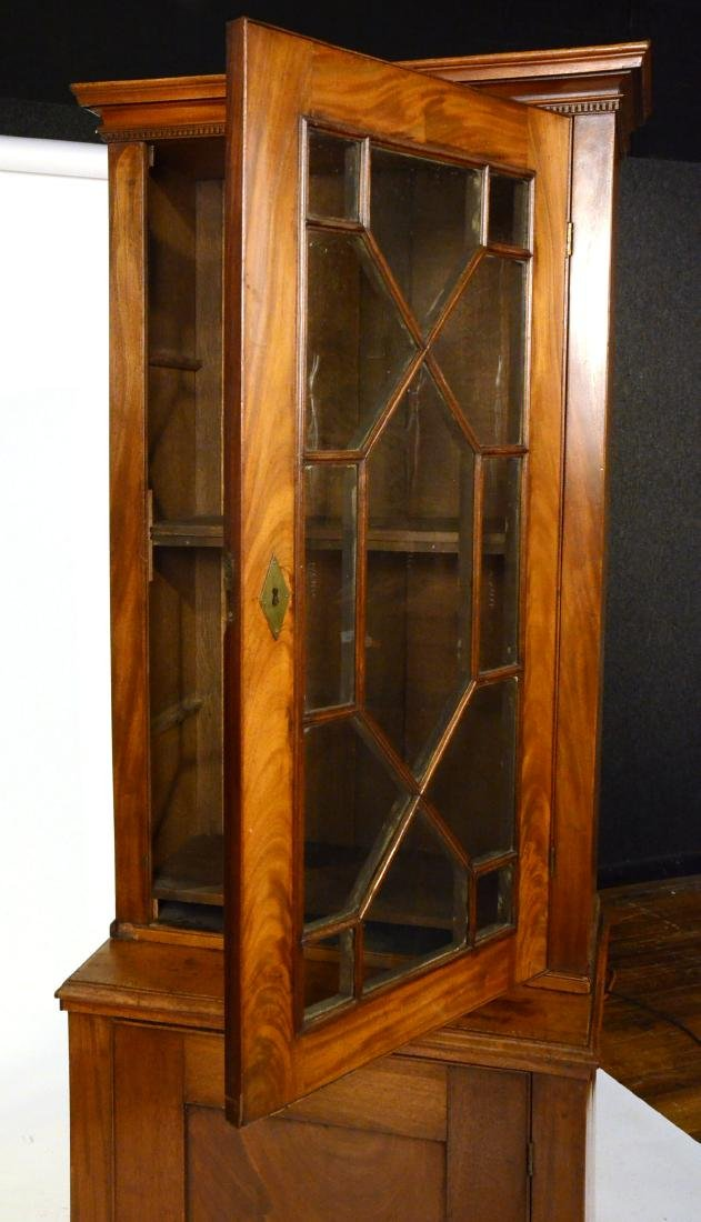 George III Mahogany Bookcase Cabinet - 5