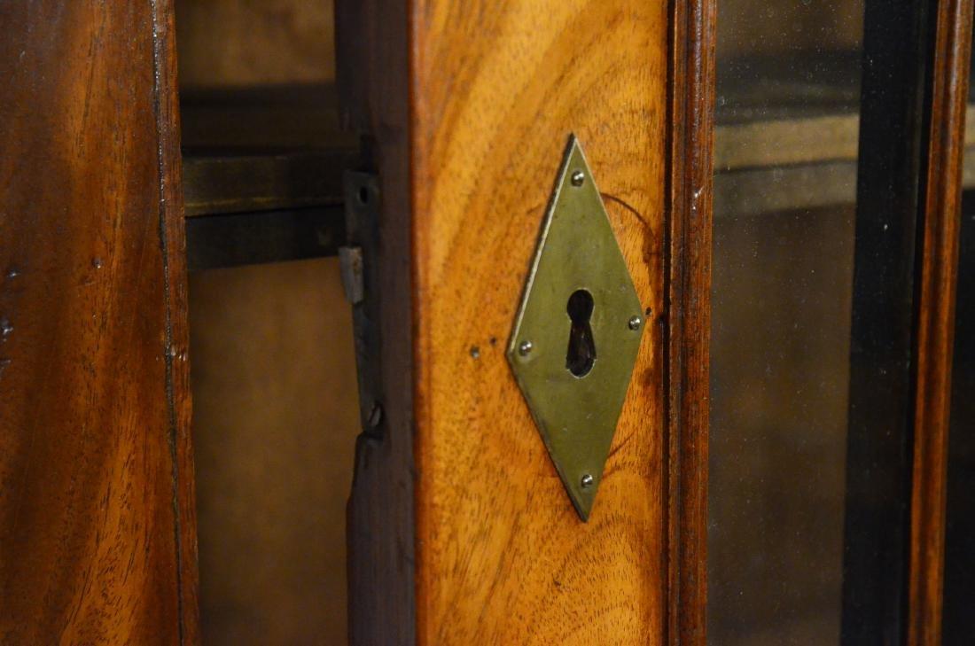 George III Mahogany Bookcase Cabinet - 7