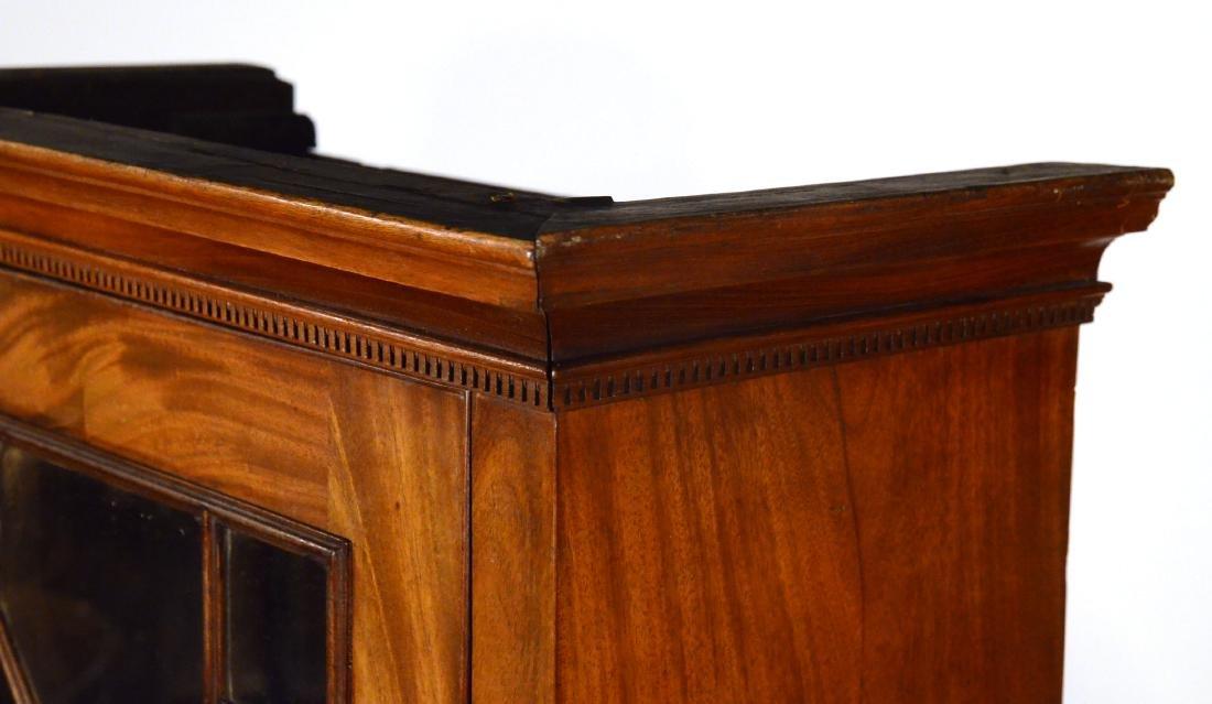 George III Mahogany Bookcase Cabinet - 8