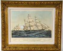 Lithograph Clipper Ship Sweepstakes