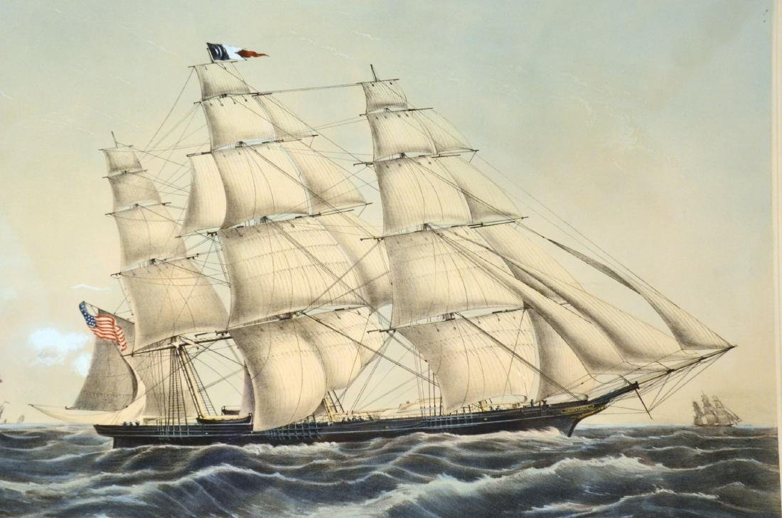 """Lithograph """"Clipper Ship Sweepstakes"""" - 6"""