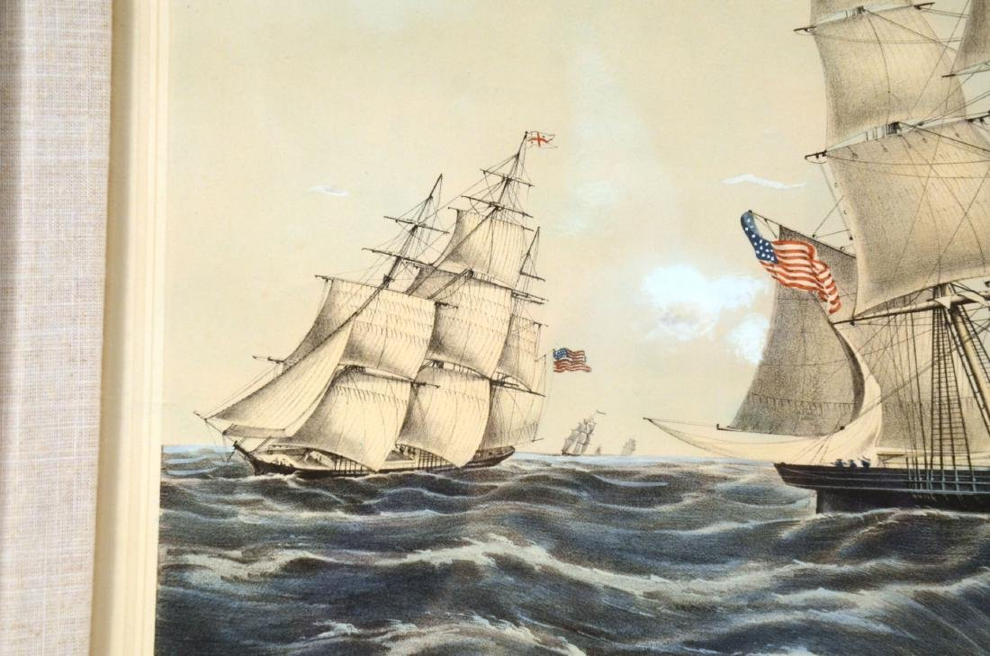 """Lithograph """"Clipper Ship Sweepstakes"""" - 7"""