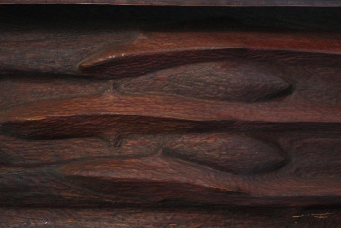 Carved Cedar Bas Relief Wall Plaque, John Hoover - 3