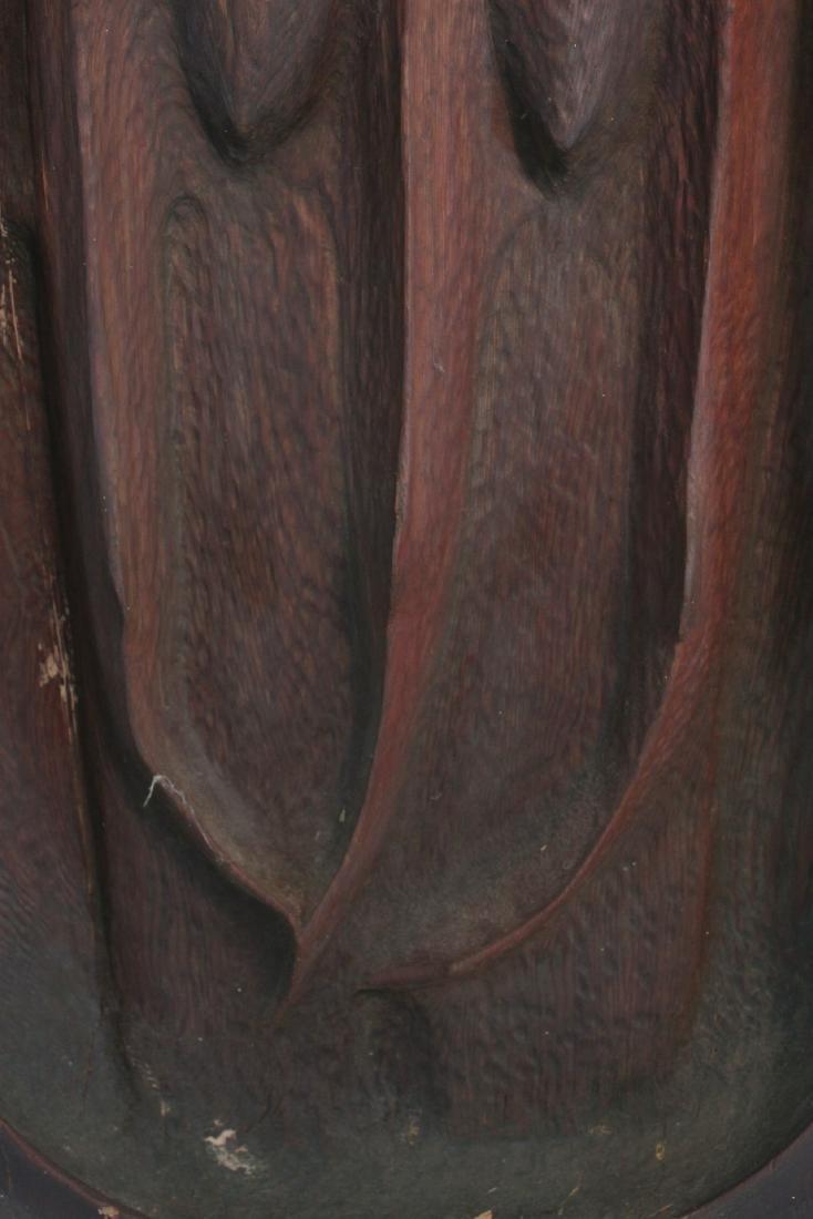 Carved Cedar Bas Relief Wall Plaque, John Hoover - 4