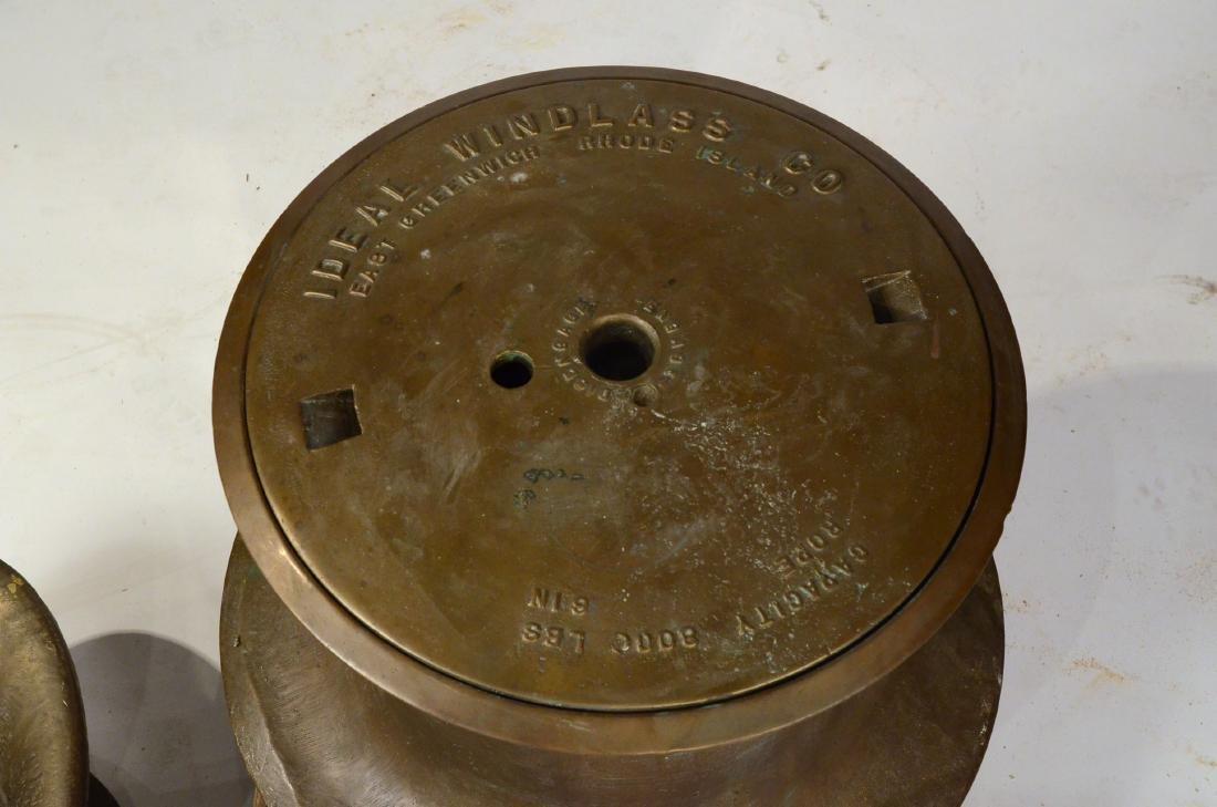 A Brass Nautical Windlass - 2