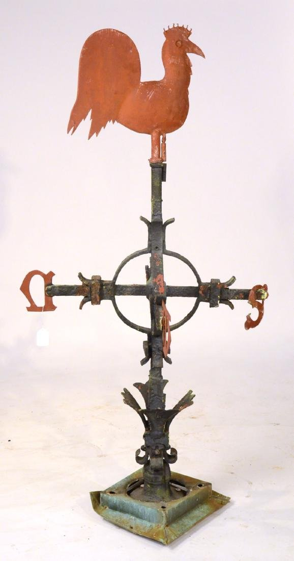 Red Painted Copper Weathervane - 10