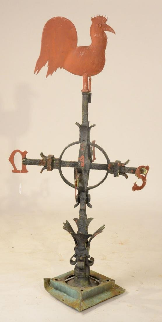 Red Painted Copper Weathervane